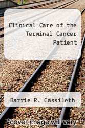 Cover of Clinical Care of the Terminal Cancer Patient EDITIONDESC (ISBN 978-0812108545)