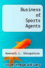 cover of The Business of Sports Agents (3rd edition)