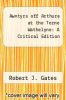 cover of Awntyrs off Arthure at the Terne Wathelyne: A Critical Edition