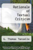 cover of Rationale of Textual Criticsm