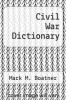 cover of Civil War Dictionary