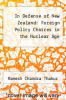 cover of In Defense of New Zealand: Foreign Policy Choices in the Nuclear Age