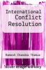 cover of International Conflict Resolution