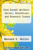 cover of Farm Animal Welfare: Social, Bioethical, and Research Issues (1st edition)