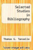 cover of Selected Studies in Bibliography