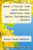cover of Women`s Fiction from Latin America: Selections from Twelve Contemporary Authors