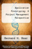 cover of Application Prototyping: A Project Management Perspective