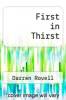cover of First in Thirst