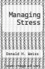 cover of Managing Stress