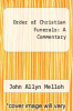 cover of Order of Christian Funerals: A Commentary