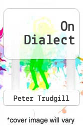 Cover of On Dialect EDITIONDESC (ISBN 978-0814781692)