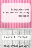 cover of Principles and Practice for Nursing Research