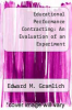 cover of Educational Performance Contracting: An Evaluation of an Experiment