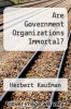 cover of Are Government Organizations Immortal?