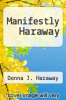 cover of Manifestly Haraway