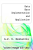 cover of Data Base Implementation and Application