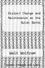 cover of Dialect Change and Maintenance on the Outer Banks