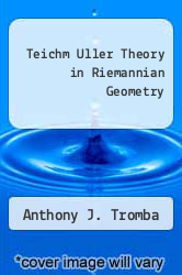 Cover of Teichm Uller Theory in Riemannian Geometry EDITIONDESC (ISBN 978-0817627355)