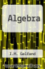cover of Algebra (1st edition)
