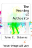 cover of The Meaning of Authority