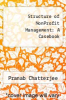 cover of Structure of NonProfit Management: A Casebook