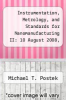 cover of Instrumentation, Metrology, and Standards for Nanomanufacturing II: 10 August 2008, San Diego, California, USA