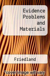 Cover of Evidence Problems and Materials 3 (ISBN 978-0820570235)