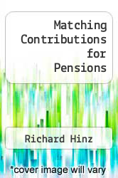 Cover of Matching Contributions for Pensions EDITIONDESC (ISBN 978-0821394922)