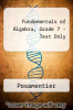 cover of Fundamentals of Algebra, Grd. 7-Text