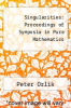 cover of Singularities: Proceedings of Symposia in Pure Mathematics