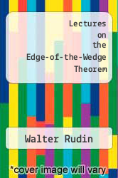 Cover of Lectures on the Edge-of-the-Wedge Theorem EDITIONDESC (ISBN 978-0821816554)