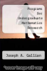 cover of Programs for Undergraduate Mathematics Research
