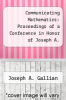 cover of Communicating Mathematics: Proceedings of a Conference in Honor of Joseph A. Gallian`s 65th Birthday, July 16-19, 2007, Duluth, Minnesota