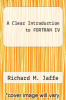 cover of A Clear Introduction to FORTRAN IV