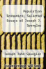 cover of Population Economics; Selected Essays of Joseph J. Spengler
