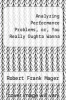 cover of Analyzing Performance Problems, or, You Really Oughta Wanna (2nd edition)