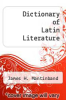 cover of Dictionary of Latin Literature