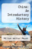 cover of China: An Introductory History