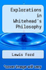 cover of Explorations in Whitehead`s Philosophy