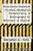 cover of Renaissance Humanism Thirteen Hundred to Fifteen-Fifty: A Bibliography of Materials in English