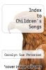 cover of Index to Children`s Songs