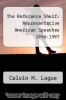 cover of The Reference Shelf: Representative American Speeches 1996-1997
