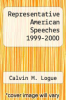 cover of Representative American Speeches 1999-2000