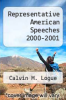 cover of Representative American Speeches 2000-2001