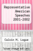 cover of Representative American Speeches 2001-2002