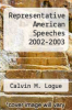 cover of Representative American Speeches 2002-2003