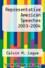 cover of Representative American Speeches 2003-2004