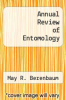 cover of Annual Review of Entomology (1st edition)