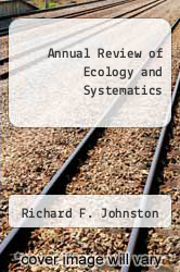 Annual Review of Ecology and Systematics by Richard F. Johnston - ISBN 9780824314071