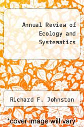 Annual Review of Ecology and Systematics by Richard F. Johnston - ISBN 9780824314163